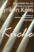 Cover Lyrik in Köln 103 Küche